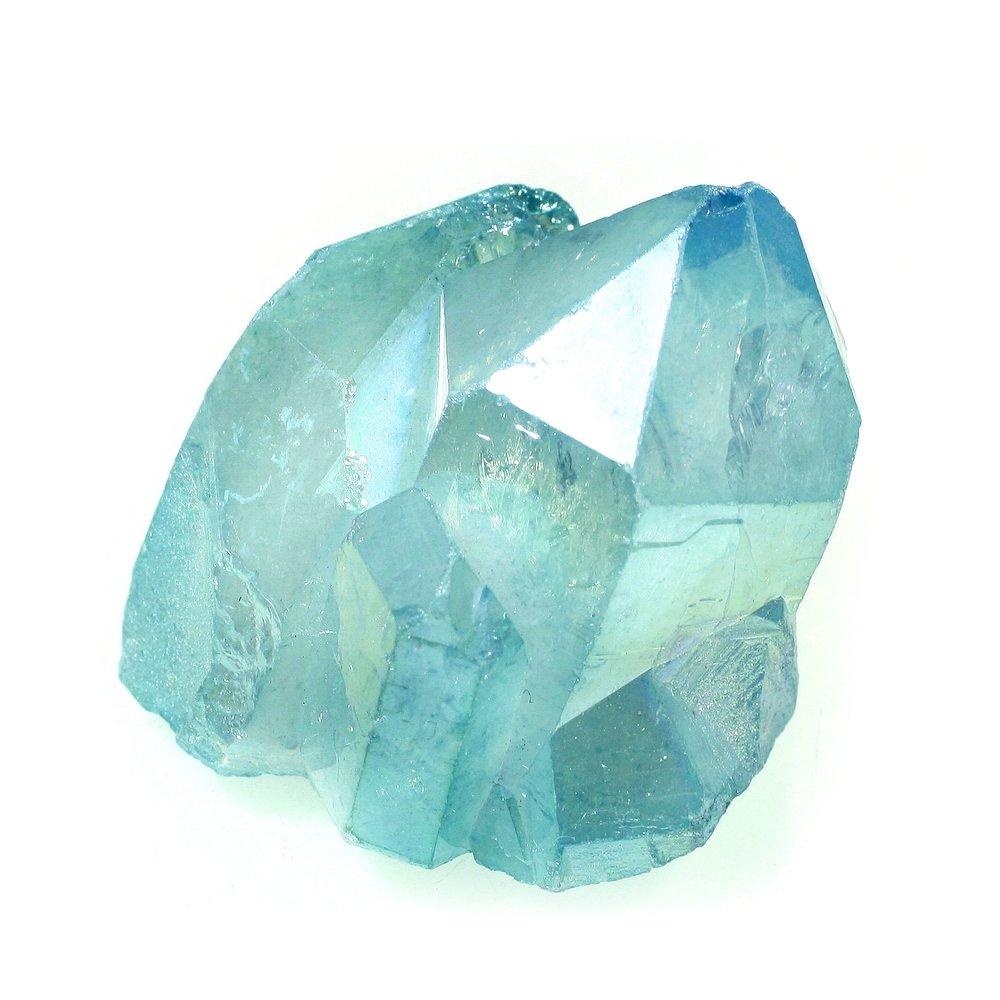 crystal aqua aura quartz stone gem healing crystal ideal for crown, third eye, throat chakras  rituals forthefeels
