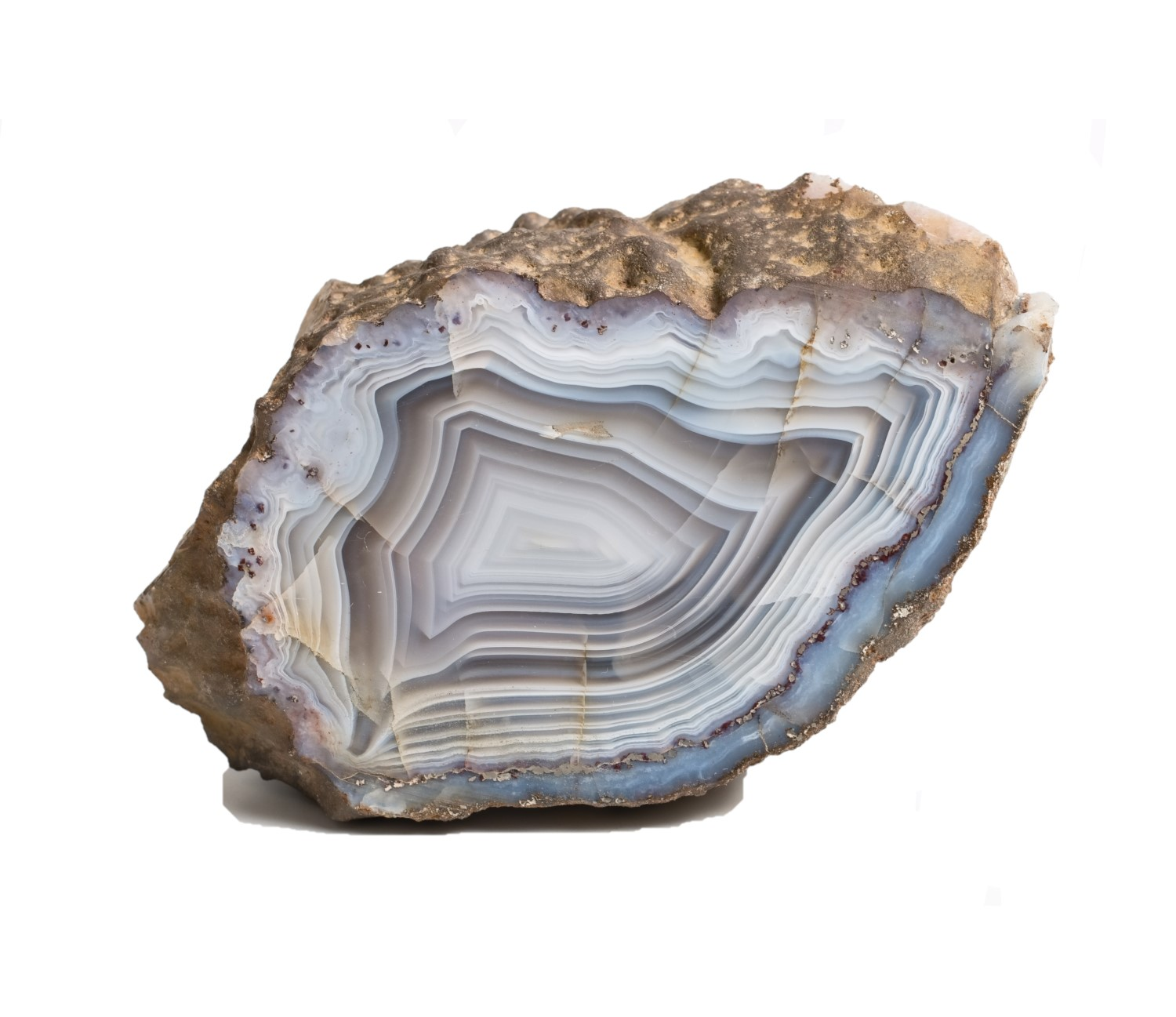 crystal banded agate stone gem ideal for Third Eye and Throat chakra healing rituals forthefeels 2