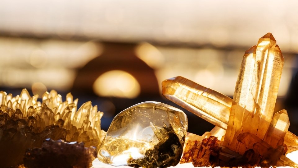 cleansing crystals with sunlight